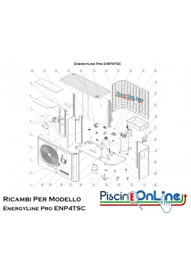 RICAMBI PER POMPA DI CALORE HAYWARD - EnergyLine Pro ENP4TSC