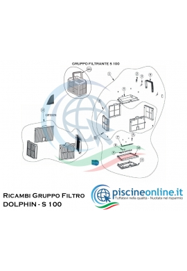 RICAMBI - GRUPPO FILTRANTE - PER ROBOT DOLPHIN MAYTRONICS - MODELLO: DOLPHIN - S 100