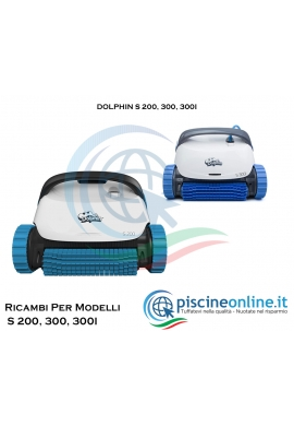 RICAMBI PER ROBOT PISCINA DOLPHIN MAYTRONICS - MODELLI: DOLPHIN S 200, 300, 300I