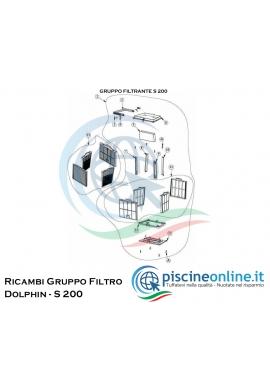 RICAMBI - GRUPPO FILTRANTE - PER ROBOT DOLPHIN MAYTRONICS - MODELLO: DOLPHIN - S 200