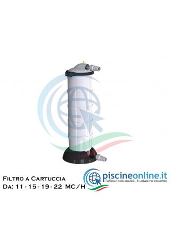 FILTRI A CARTUCCIA IN ABS CON ALTO GRADO DI FILTRAZIONE ( 15 MICRON ) - 4 MODELLI DA 11 - 15 - 19 - 22 MC/H