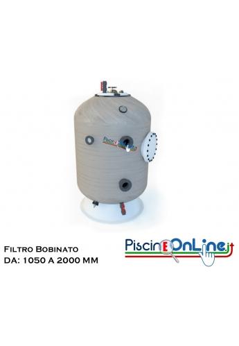 FILTRO BOBINATO FIBERPOOL TECNOLOGY A NORMA UNI 10637 VARI MODELLI CON DIAMETRO DA 1050 A 2000 MM