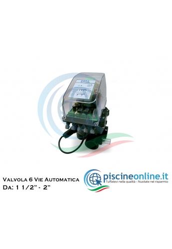 """VALVOLA SELETTRICE A 6 VIE - AUTOMATICA - 2 VERSIONI DA 1 1/2"""" E 2"""""""