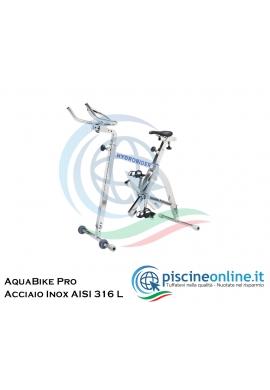 ACQUABIKE PRO - COSTRUITA IN ACCIAIO INOX AISI 316 L - SELLA E MANUBRI REGOLABILI - 3 LIVELLI DI RESISTENZA