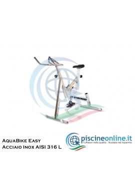 ACQUABIKE EASY - COSTRUITA IN ACCIAIO INOX AISI 316 L - SELLA E MANUBRI REGOLABILI - RESISTENZA VARIABILE