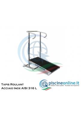 TAPIS ROULANT PER PISCINA - COSTRUITA IN ACCIAIO INOX AISI 316 L - SOLIDO, LEGGERO E RICHIUDIBILE