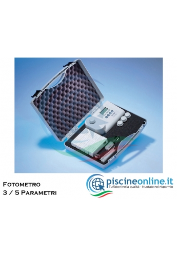 FOTOMETRO PROFESSIONALE PER MONITORARE I PARAMETRI ACQUA DELLA PISCINA - 2 VERSIONI PER VISUALIZZARE 3 O 5 PARAMETRI