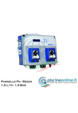CENTRALINA POOLBASIC - PH - REDOX - CON POMPE PERISTALTICHE - 1,5 L/H - 1,5 BAR