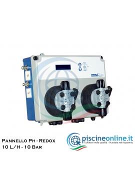 CENTRALINA POOLBASIC - PH - REDOX - CON POMPE ELETTROMAGNETICHE - 10 L/H - 10 BAR