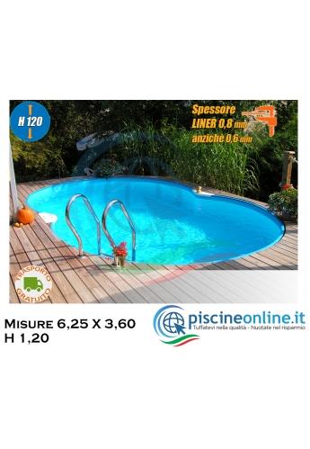 Piscina Modello Corsica Isolabella 525 - Misure 5,25 X 3,20 h 1,20