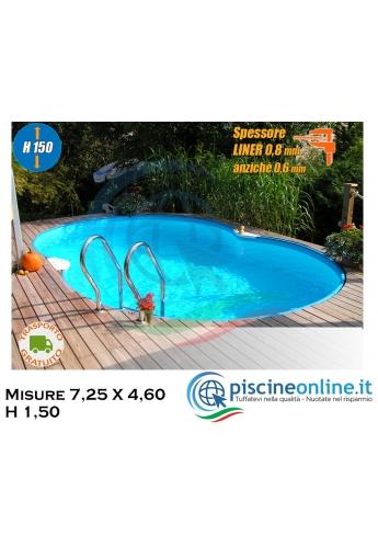 Piscina Modello Corsica Isolabella 725 - Misure 7,25 X 4,60 h 1,50