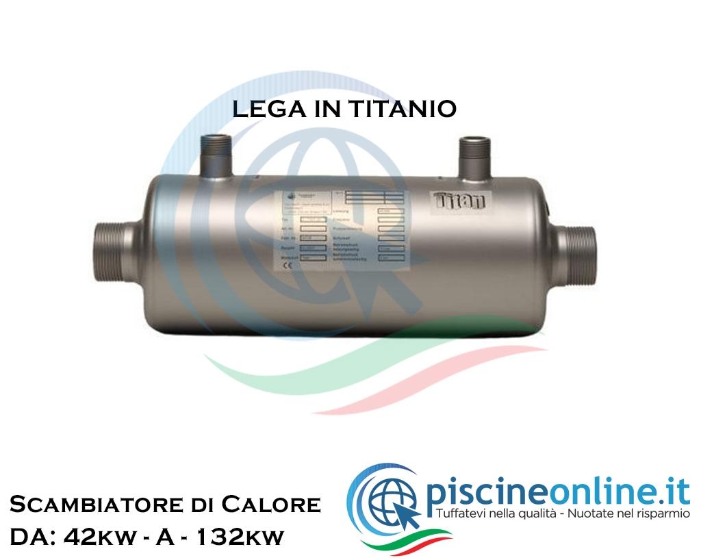 Pompa Di Calore Per Bagno scambiatore di calore in titanio compatibile con sistemi di riscaldamento  solari, caldaia, pompe di calore - 4 modelli