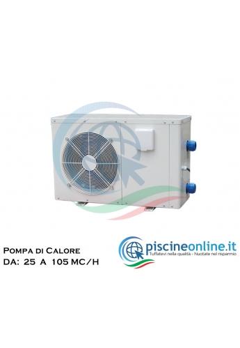 POMPA DI CALORE PER IL RISCALDAMENTO ACQUA DELLA PISCINA - 4 VERSIONI DA 15 A 50 MC/H