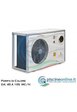 POMPE DI CALORE SILENZIOSE PER IL RISCALDAMENTO ACQUA DELLA PISCINA - 5 VERSIONI DA: 45-60-85-105 -105 TRIFASE - MC/H
