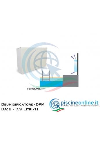DEUMIDIFICATORE DA TERRA O INCASSO PER PISCINA - 18 VERSIONI DPM CON CAPACITA' DI DEUMIDIFICAZIONE DA 2 A 7,9 LITRI/ H
