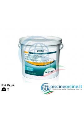 PH PLUS DA 5 KG by BAYROL - PRODOTTO GRANULARE PER ALZARE IL PH IN ACQUE DI PISCINA