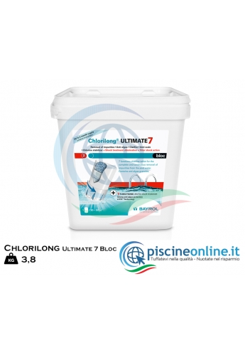 CHLORILONG ULTIMATE 7 BLOC BAYROL - PRODOTTO IN DISPENSER A BASE DI CLORO PER TRATTAMENTO SHOCK E CONTINUO - 3.8 KG