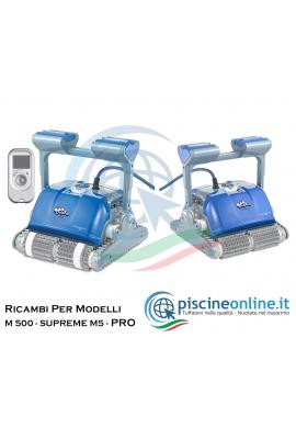 RICAMBI PER ROBOT PISCINA DOLPHIN MAYTRONICS - MODELLO: DOLPHIN M 500 - SUPREME M5 - SUPREME M5 PRO