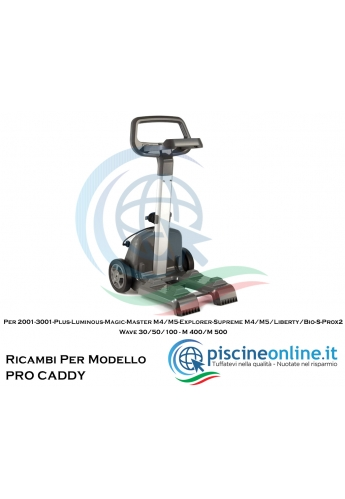 """RICAMBI PER CARRELLO PORTA ROBOT DOLPHIN MAYTRONICS - MODELLO: CARRELLO """"CLASSIC CADDY"""""""