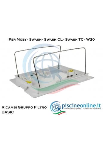RICAMBI GRUPPO COPERCHIO FILTRO INFERIORE - BASIC - PER ROBOT DOLPHIN MAYTRONICS