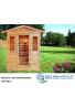 Sauna ad Infrarossi per esterno per 4 persone in abete