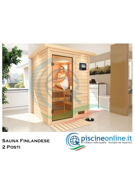 Sauna Finlandese In Abete Massiccio Naturale Con Pannelli Di Spessore 38 Mm Ideale Per Impianto Sauna A Casa 2 Posti