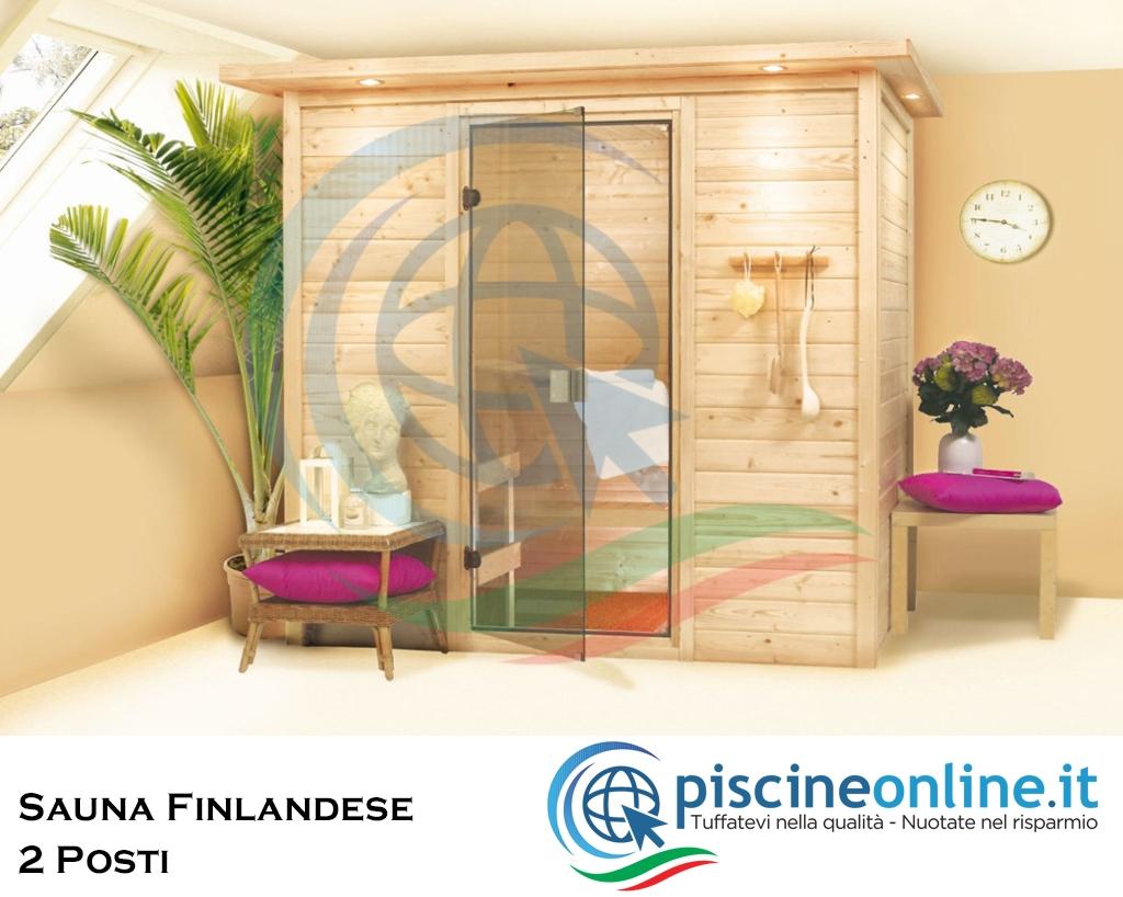 Sauna Finlandese In Abete Massiccio Naturale Con Pannelli Di Spessore 38 Mm Ideale Per Impianto Sauna A Casa 2 Persone