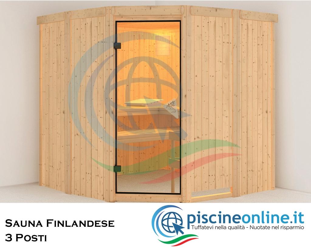 Casa Ideale Per 3 Persone sauna finlandese in abete rosso del nord con pannelli di spessore 68 mm -  ideale per impianto sauna a casa - 3 persone