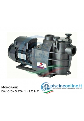 POMPA AUTOADESCANTE SUPERPOOL I BY HAYWARD COMPATIBILE CON POWERLINE PL-PLUS - 4 MODELLI DA 05 A 1.5 HP MONOFASE