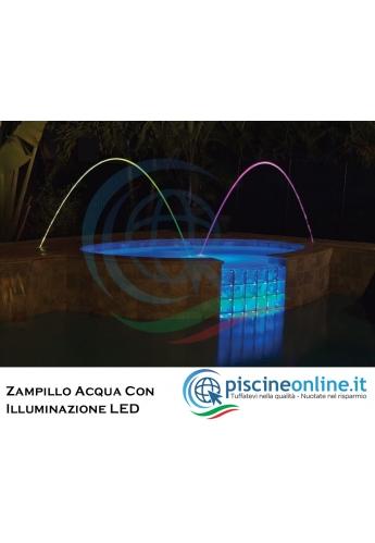 ZAMPILLO A FLUSSO LAMINARE CON ILLUMINAZIONE A LED INCORPORATA - GIOCHI D'ACQUA PER PISCINA