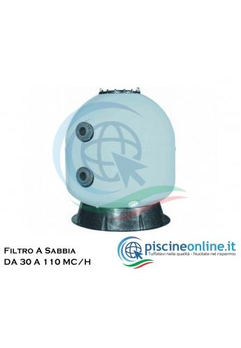 FILTRO SEBASTIAN A NORMA UNI 10637 CON LETTO FILTRANTE 100 CM - 3 MODELLI CON DIAMETRO 640 - 760 - 900