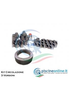 KIT RACCORDERIA DI CIRCOLAZIONE MT3 PER PISCINA CON SKIMMER - 3 VERSIONI PER PISCINE DA 55 A 120 MC