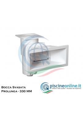 SKIMMER A BOCCA SVASATA + PROLUNGA PROFONDITA' DA 330 MILLIMETRI - FORNITURA PER ISTALLAZIONE COMPLETA