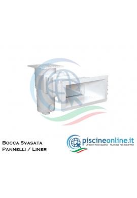SKIMMER A BOCCA SVASATA PER PISCINE A PANNELLI / LINER + PROLUNGA IN DUE PARTI - FORNITURA PER ISTALLAZIONE COMPLETA