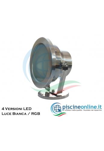 PROIETTORE INOX 18 LED BIANCO 9W
