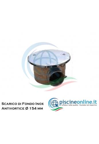 """SCARICO DI FONDO ANTI-VORTICE IN ACCIAIO INOX AISI 316 - Ø 240 MM, 2,1/2"""", PORTATA 30MC/H"""