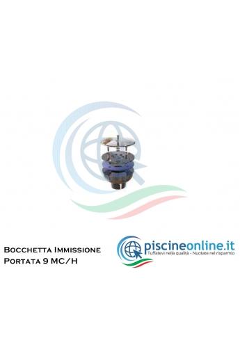 """BOCCHETTA IMMISSIONE A PAVIMENTO 11/2"""" IN INOX A PORTATA VARIABILE"""
