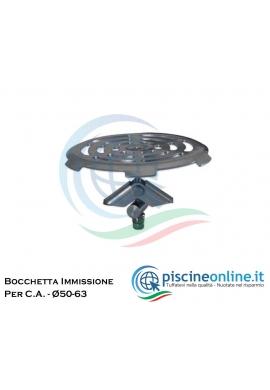 BOCCHETTA DI IMMISSIONE A PAVIMENTO IN ACCIAIO INOX AISI 316 PER CEMENTO ARMATO - AGGAFFAGGIO RAPIDO - Ø50-63