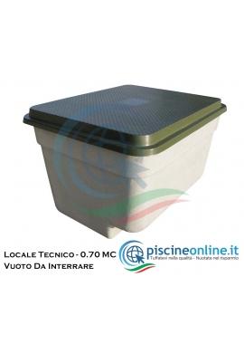 LOCALE TECNICO DA INTERRARE COMPLETO DI CERNIERA E CHIUSURA DI SICUREZZA - VUOTO CON COPERCHIO - 0.70 MC