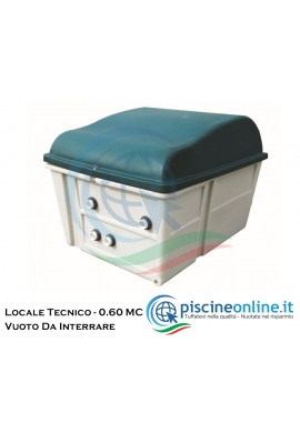 LOCALE TECNICO DA INTERRARE COMPLETO DI CERNIERA E CHIUSURA DI SICUREZZA - VUOTO CON COPERCHIO - 0.60 MC