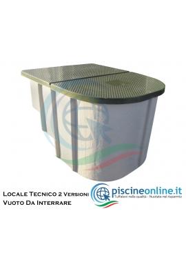 LOCALE TECNICO VUOTO DA INTERRARE COMPLETO DI COPERCHIO - 2 VERSIONI - 1,5 MC / 2 MC