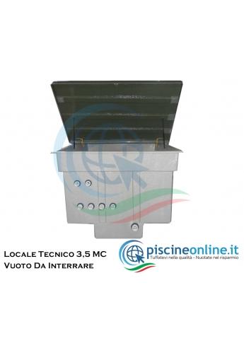 LOCALE TECNICO VUOTO DA INTERRARE CON GRANDE CAPACITA' DI ALLOGGIAMENTO - COPERCHIO ANTI-SDRUCCIOLO - 3,00 MC
