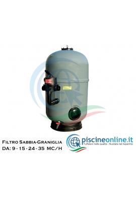 FILTRO ULTRA FLOW A BRACCI CON BOCCAPORTO D'ISPEZIONE PER PISCINE DI GRANDI DIMENSIONI - DA 9 A 35 MC/H