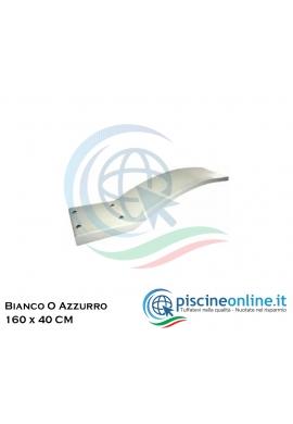 TRAMPOLINO PER PISCINA IN POLIESTERE E FIBRA DI VETRO - 2 COLORAZIONI - BIANCO O AZZURRO DA 160 X 40 CM