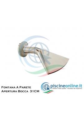"""GETTO D'ACQUA DA FISSARE A PARETE IN ACCIAIO INOX AISI 316 - ATTACCO 1""""1/4 - PORTATA 20 MC/H"""