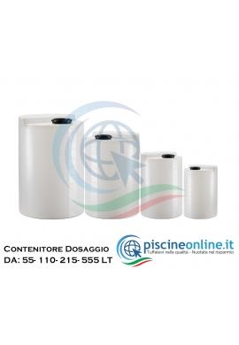 SERBATOIO CONTENITORE DI STOCCAGGIO PRODOTTI PER POMPE DOSATRICI - 4 DIMENSIONI DA 55 A 555 LITRI