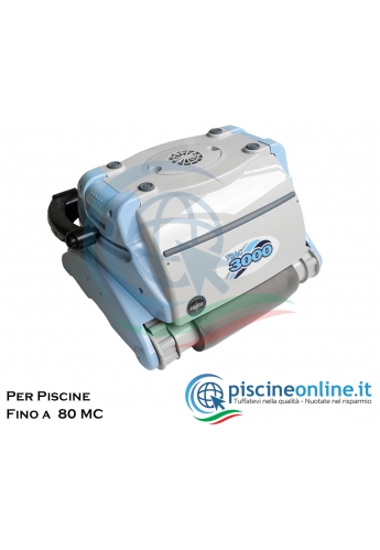ROBOT PULITORE AUTOMATICO PER PISCINE FINO A 12 METRI - 80 MC