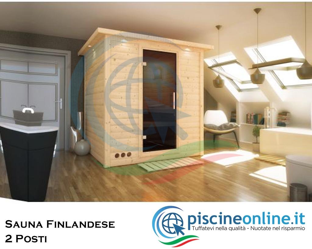 Sauna Finlandese In Abete Rosso Del Nord Con Pannelli Di Spessore 40 Mm Ideale Per Impianto Sauna A Casa 2 Persone