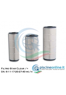 CARTUCCIA PER FILTRI HAYWARD - STAR CLEAR / STAR CLEAR PLUS - DA 6, 11, 17, 20, 27 E 40 MC /H