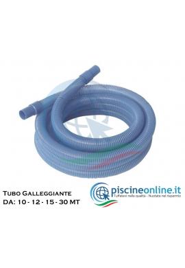 TUBO GALLEGGIANTE COLORE AZZURRO, Ø 38 mm, CON TERMINALI DA: 10/ 12/ 15/ 30 MT